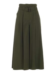Aspesi - High waisted belted trousers in green