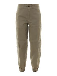 Closed - Stretch cotton cargo pants in army green