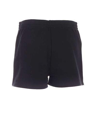 Moschino - Logo embroidery shorts in black