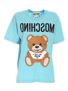Moschino - Inside Out Teddy Bear T-shirt in light blue