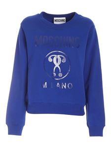 Moschino - Double Question Mark sweatshirt in blue
