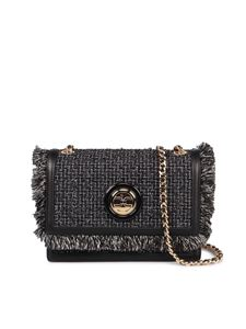 Elisabetta Franchi - Black tweed crossbody bag