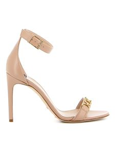 Elisabetta Franchi - Leather sandals in Cammello color