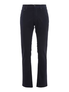 Jacob Cohën - Style 688 virgin wool trousers in Blu Inchiostro color