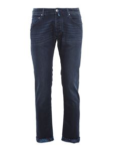 Jacob Cohën - Style 622 patterned insert jeans in blue