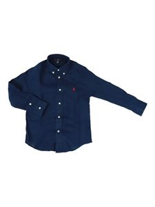 POLO Ralph Lauren - Logo embroidery shirt in blue