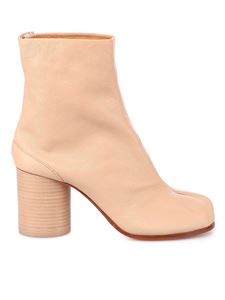 Maison Margiela - Tabi leather ankle boots in Dawn color