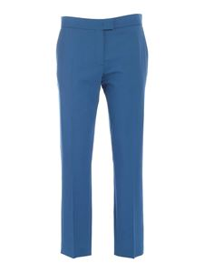 Paul Smith - Ironed crease down the leg pants in blue