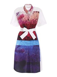PS by Paul Smith - Front print dress in white