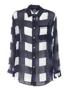 PS by Paul Smith - Semi-transparent shirt in blue and white