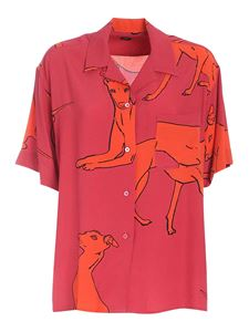 PS by Paul Smith - Dog print shirt in fuchsia