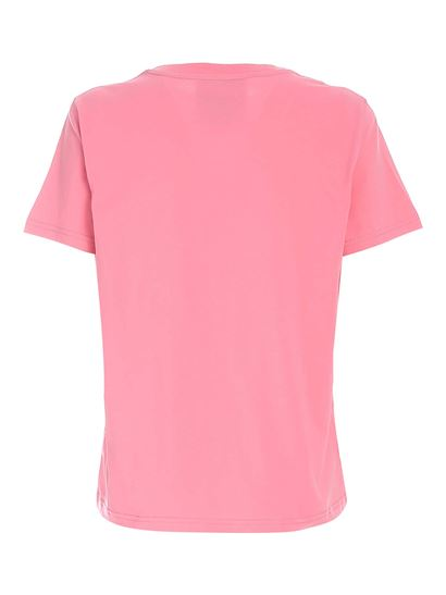 Moschino - Logo embroidery T-shirt in pink