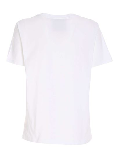 Moschino - Logo embroidery T-shirt in white