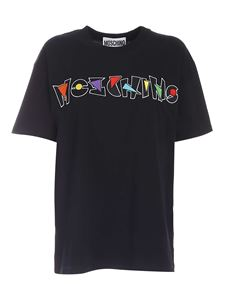 Moschino - Logo embroidery T-shirt in black