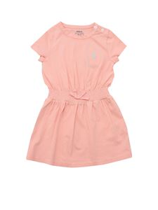 POLO Ralph Lauren - Smock stitching dress in salmon pink color