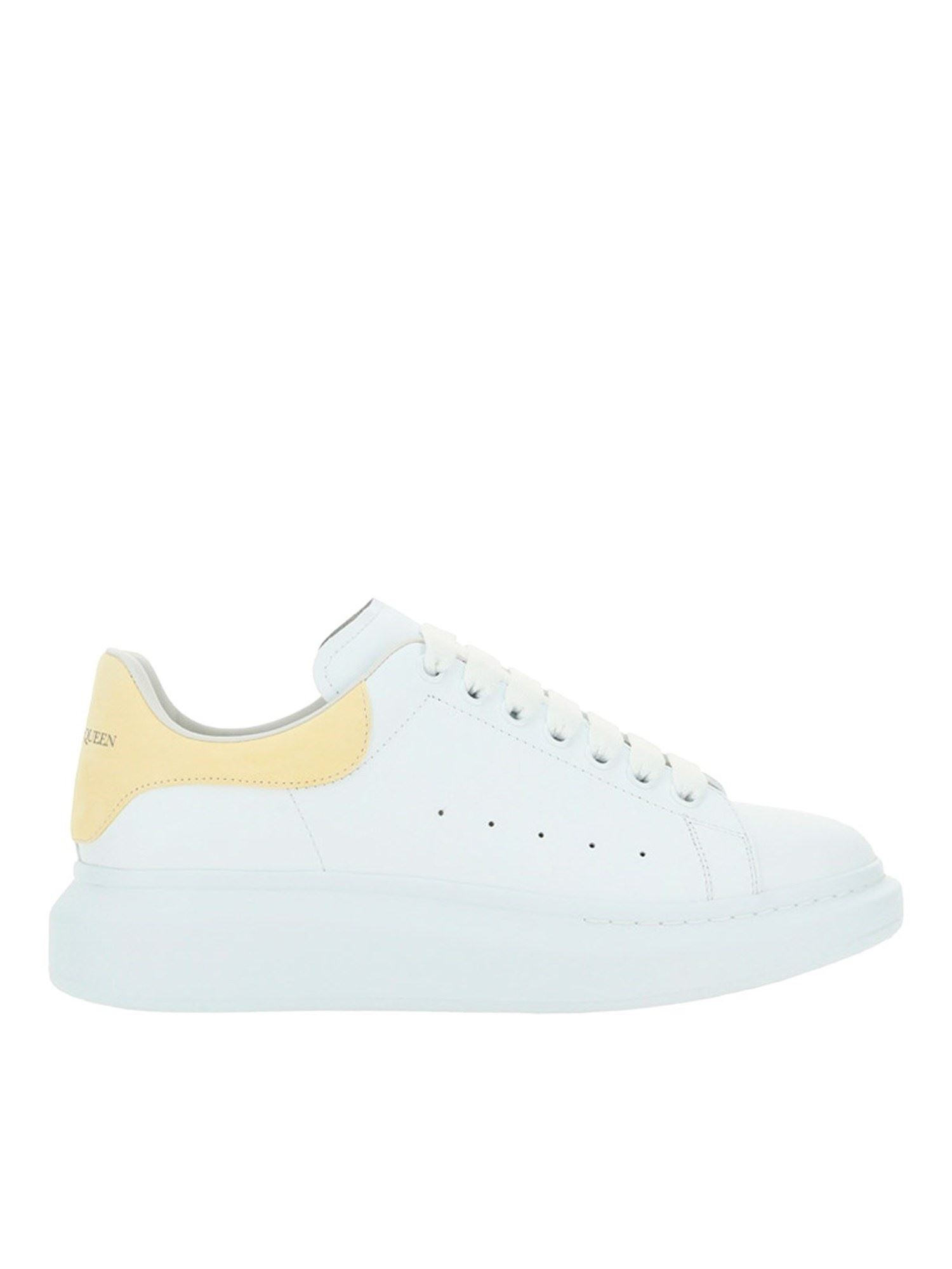 Alexander Mcqueen Chunky Sneakers In White And Yellow In White/lemon