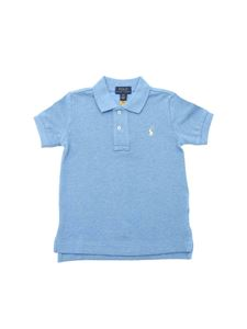 POLO Ralph Lauren - Branded polo shirt in pale blue color