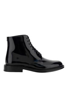 Saint Laurent - Patent leather ankle boots in black