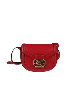 Etro - Pegaso buckle leather bag in red
