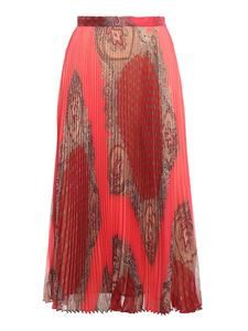 Twin-Set - Foulard printed skirt in pink and red