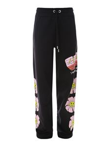 GCDS - Graphic print tracksuit bottoms in black