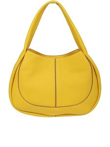 Tod's - Borsa Hobo media gialla