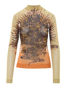Givenchy - Printed long sleeved T-shirt in yellow