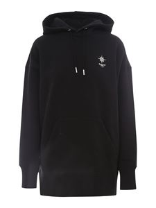 Givenchy - Black printed cotton hoodie