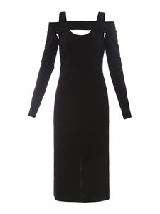 Givenchy - Off-the-shoulder midi dress in black