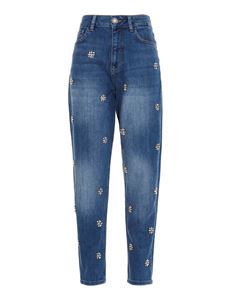 Liujo - Jewel embroidered jeans in blue