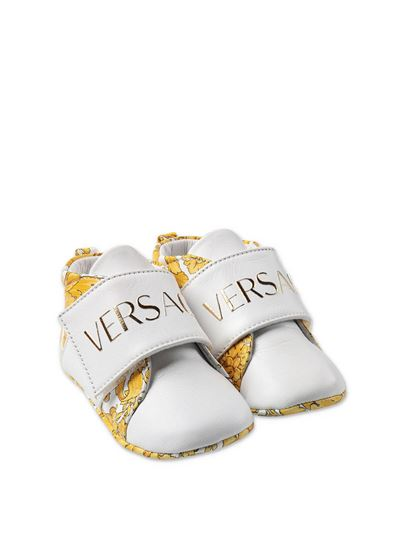 Versace Young - Baroque slippers in white