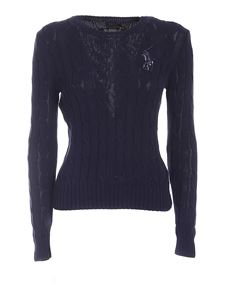 POLO Ralph Lauren - Sequined logo sweater in blue