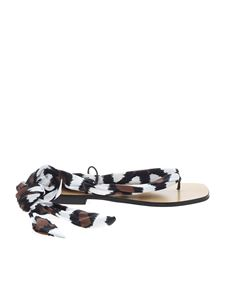 Max Mara - Animal printed Pio thong sandals