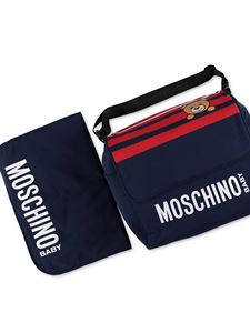 Moschino Kids - Changing bag in navy blue and red