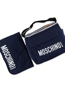 Moschino Kids - Changing bag in navy blue and grey