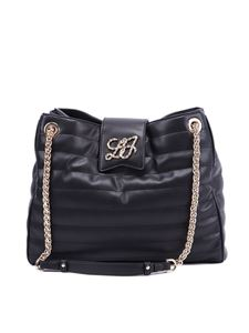 Liujo - Quilted faux leather tote bag in black