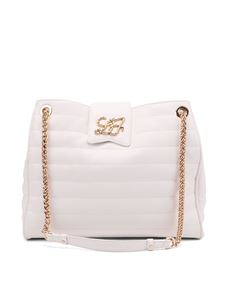 Liujo - Quilted faux leather tote bag in white