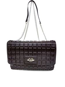 Love Moschino - Quilted faux leather shoulder bag in black