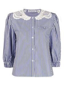Self-Portrait - Striped shirt with lace