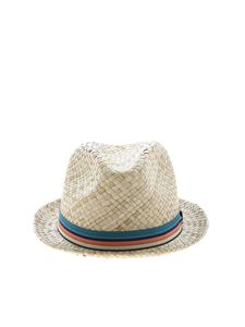 Paul Smith - Capello beige con nastro multicolore