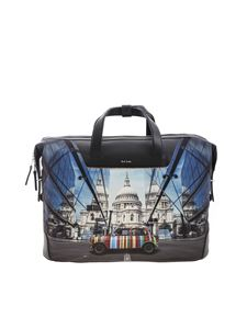 Paul Smith - Contrasting printed Holdall Mini bag in black