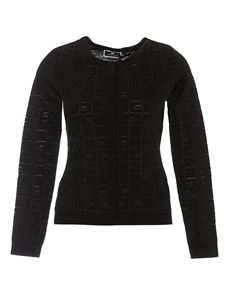 Elisabetta Franchi - Viscose blend  cardigan in black