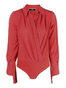Elisabetta Franchi - V neck bodysuit in red