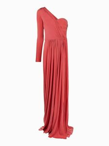 Elisabetta Franchi - Asymmetric one-shoulder dress in red