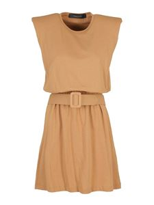 Federica Tosi - Belted dress in brown