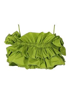 MSGM - Rouched cropped top in green