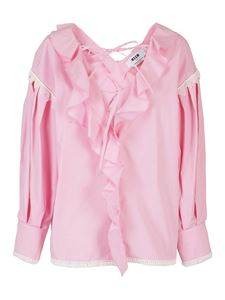 MSGM - Cotton blouse in pink