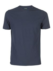 SLOWEAR Zanone - T-shirt in cotone ice blu