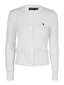 POLO Ralph Lauren - Logo embroidery cardigan in white