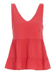 Twin-Set - Pleated top in red